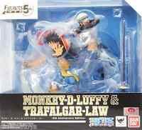 One Piece Monkey D. Luffy Rubber & Trafalgar Law 5th Anniv. Figuarts Zero Bandai