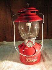 VINTAGE 1972 COLEMAN LANTERN RED SINGLE MANTLE MODEL 200A195 WITH ORIG BOX