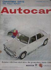 Autocar 3/12/1965 featuring Citroen DS21 Pallas, Triumph, Reliant Sabre Sprint