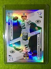 AARON RODGERS CARD JERSEY #12 PACKERS SP PRIZM REFRACTOR 2019 Donruss Elite Deck