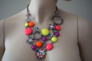 Amrita Singh Austrian Crystal & Pink Multi Color Pioneer Necklace NKC5189