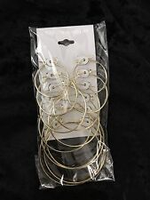 24K Gold Overlay Hoop Earrings - 24k - FABULOUS! 6 Pair
