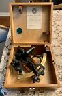 Antique Nautical Maritime Sextant Hezzanith Heath & Co. in Wood Box