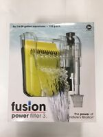NEW JW Fusion Aquarium Filter 3. For 10-29 Gallon. 110 gph.Power Aquarium Filter