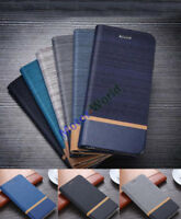 Shockproof Stand Flip PU Leather Wallet Case For HTC Model phone Cover