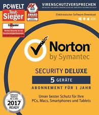 Norton (Internet) Security 2016 / 2017 - 5 Geräte / PC - 1 Jahr