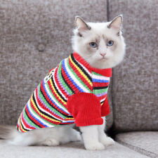 Christmas Cat Jumper for Pets Kitten Small Dog Sweaters Boy Girl Clothes Coat