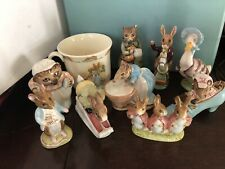LOT OF 10 VINTAGE Beswick England F. Warne Beatrix Potter & Bunnykis Figurines +