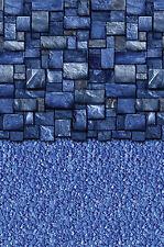 "EZ Bead 15'X52"" Round Above Ground Pool Liner Full Print Blue Slate Streamstone"