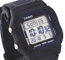 Casio W800H-1AV Men's Resin Band 100M Snooze Alarm Chronograph Digital Watch