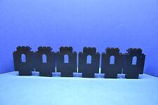 LEGO 6 x Mauer 4444 schwarz 6086 6085 6278 6292 6082 6071 6059 black wall