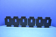 LEGO 6 x MURO 4444 NERO 6086 6085 6278 6292 6082 6071 6059 BLACK Wall