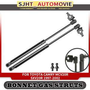 2x Bonnet Hood Gas Struts for Toyota Camry MCV20 SXV20 1997-2002 2.2L 6Cyl 3.0L