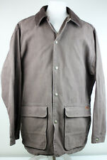 WOOLRICH Canvas Indian Button Vintage Coat Jacket Mens Large Corduroy Collar