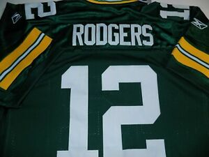 #12 AARON RODGERS REEBOK ONFIELD PLAYER JERSEY MENS SZ 56 CHEST -GREEN- NWT