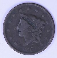 1837 Coronet Large Cent LFRAW0341/RN