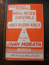 Partition Rosa Mujer Espanola Aqui Radio Koln Juan Morata