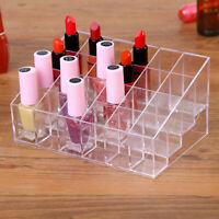 24 Grids Make up Cosmetic Lipstick Storage Display Rack Holder Organizer Box