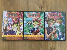 Yu-Gi-Oh 3 x DVDs Volume 1,2 & 11 Anime 'The Heart Of The Cards' Anime Series