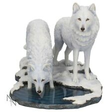 More details for warriors of winter wolf lisa parker 35cm statue