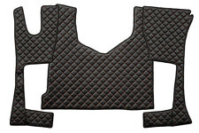 Carpets + Bonnet Covers Black & Red Mercedes Actros MP4 From 2011 Cabin 230mm II