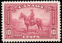1935 Mint H Canada F+ Scott #223 10c King George V Pictorial Stamp