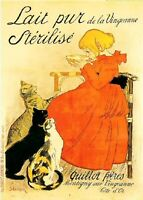 """Lait Pur Sterilise 1894 French Vintage Poster Printed in France 20"""" x 28"""""""