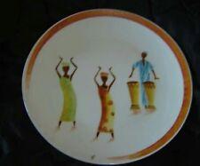 assiette porcelaine motif africain décoration creation création peint main
