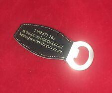 magnetic bottle opener leatherette style Custom engraved