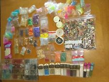Jewelry making supplies large lot Glass Wood, Plastic, Crystal, Spacer Beads 8lb