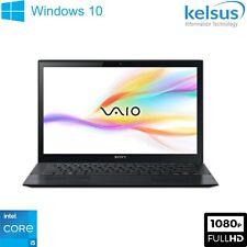 "Sony Vaio Laptop Core i5 8GB RAM 256GB SSD 13.3"" FHD Windows 10 Webcam Wi-Fi"