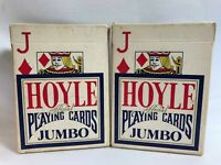Hoyle Blue-back Jumbo Index Playing Cards 2 Full Decks