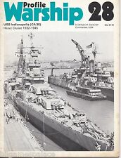 Warship Profile 28 USN CA USS Indianapolis (Profile 1973 1st) WH Cracknell