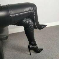 New Women Stilettos High Heel PointY Toe Overknee Long Boots Nightclub 45/46/47