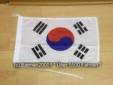 Fahnen Flagge Südkorea Bootsfahne Tischwimpel - 30 x 40 cm