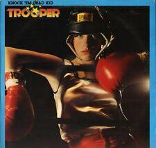 Trooper Knock 'em Dead Kid EPC 82296 A1/B1 promo 1st pressing uk LP PS VG +/EX