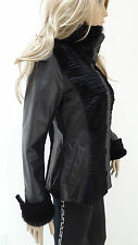 Marccain Damen Jacke Leder Pelz N1 N2 34 36 s Leather