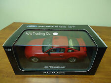 AutoArt SLOT Car 1:32 Ford MUSTANG GT 2005 Red Lighting Lamps NEW 13052