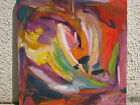 Peinture Tableau Abstrait huile sur toile 60cm/60cm A Picard Painting Art Oil