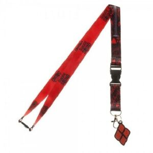 OFFICIAL DC COMICS SUICIDE SQUAD HARLEY QUINN ALL OVER PRINT LANYARD (NEW)