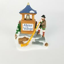 Dept 56 Alpenhorn Player Heritage Village 56182 Alpine Collection Winter Snow