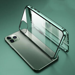 For iPhone 13 12 11 Pro Max XR 8 7 Magnetic Front+Back Tempered Glass Case Cover