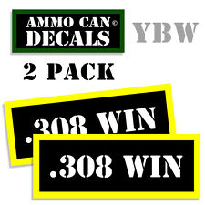 308 WIN Ammo Label Decals Box Stickers decals - 2 Pack BLYW