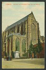 Utrecht  Domkerk met standbeeld Graaf Jan van Nassau