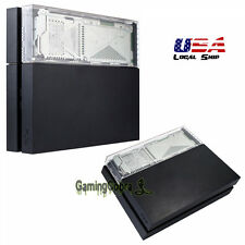 Transparent Clear HDD Hard Disk Drive Bay Cover Case Faceplate for PS4 Console