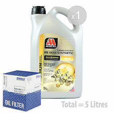 Engine Oil and Filter Service Kit 5 LITRES Millers NANODRIVE EE 10w-40 5L