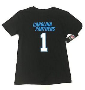 Carolina Panthers NFL Team Apparel / Logo Jersey Black T-Shirt / Youth M 10-12