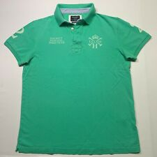 HACKETT London Pique Polo Shirt in Green Size: Medium (Tailored Fit) Flawed