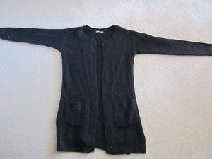 Women's long cardigan - size M - ice - Black