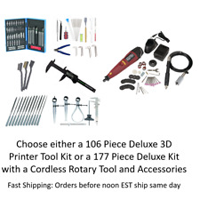 3D Printing Deluxe Cleaning & Printer Accessory Tool Kit : Needles Knives Pliers